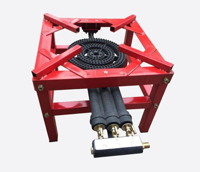 High Fire LPG Cast Iron Gas Burner Stove , Gas 3 Ring Burner Cast Iron