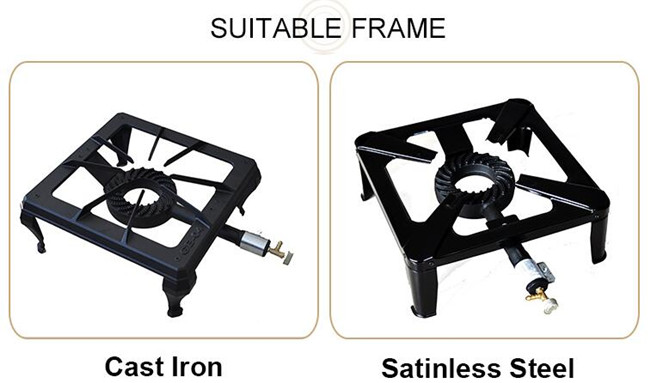 Propane Butane Cast Iron Gas Cooking Burner With Supporting