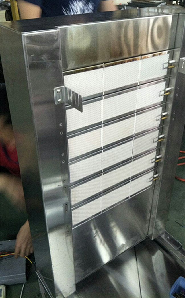 Custom Shawarma Kebab Machine SUS304 , LPG / NG 6 Burners BBQ Doner Kebab Equipment