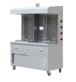 China Double Head Electric Gas Shawarma Grill Machine Free Standing Stainless Portable supplier