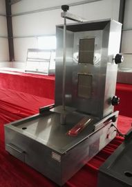China 430 Stainless Steel Two Burners LPG Doner Kebab Machine With Spinning Bar supplier