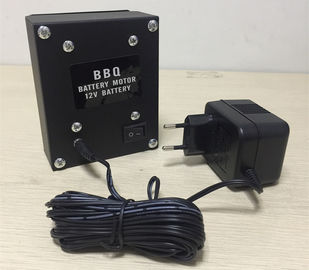China 12 VDC 3Rpm Min BBQ Grill Rotisserie Motor With European Plug Charger distributor