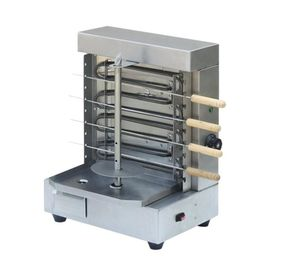 China Rotating Bar Doner Kebab Shawarma Machine Electric Mini Stainless With Horizontal BBQ Spit factory